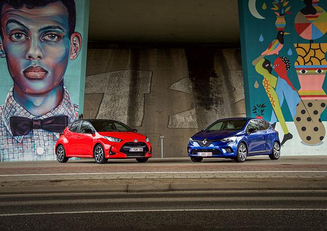 Renault Clio E-tech & Toyota Yaris Hybride