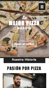 Restaurante website templates – Pizzería