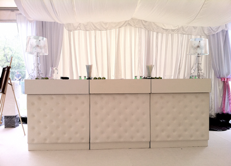 White leather Bar