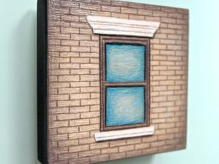 NEW SERIES of drawings on wood blocks