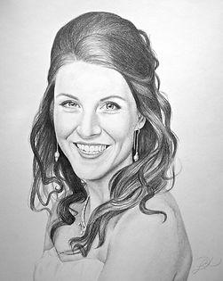Pencil wedding portrait
