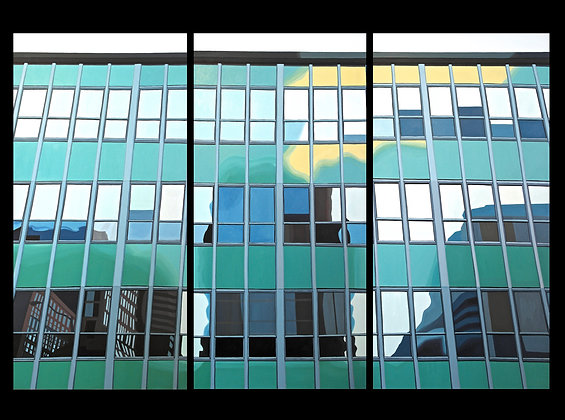 Windows on Bank at Gloucester, Ottawa (Triptych)