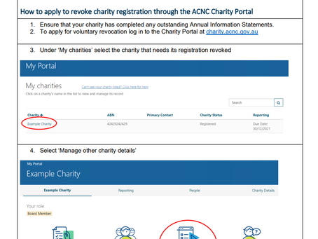 Revocation of Brigade Charity Status