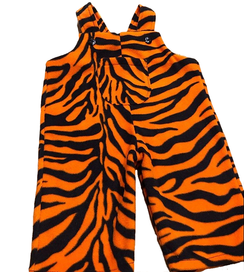 Baby Tiger dungarees in orange