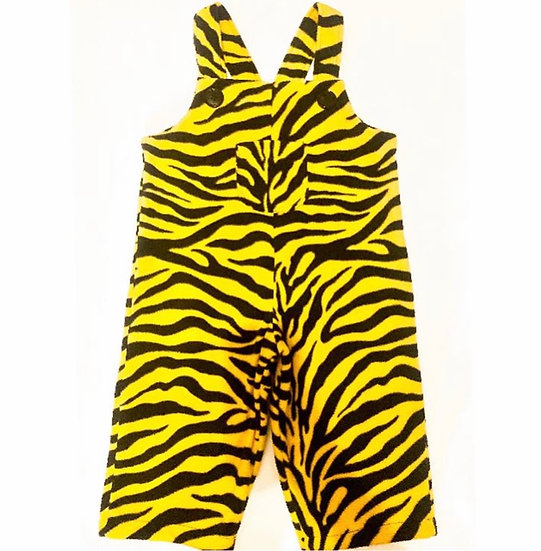 Baby Tiger dungarees in yellow