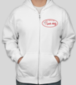 White Zip Hoodie front