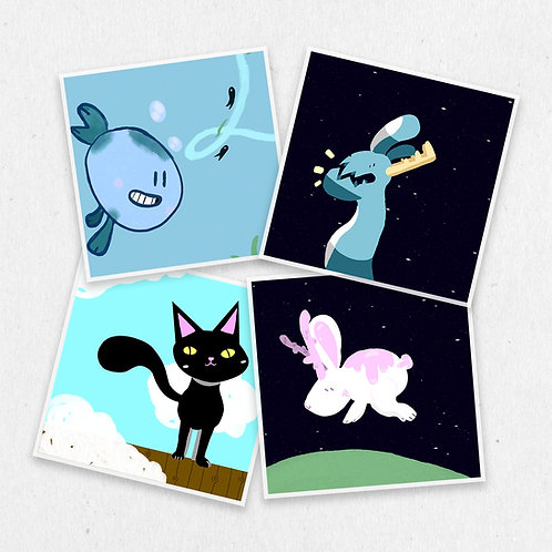 Mina Spike Stickers 4-pack