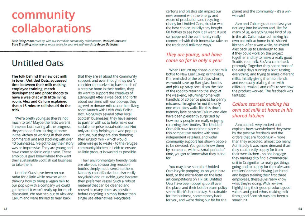 community collaboration - untitled oats