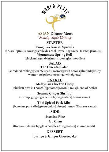 WORLD PLATE_Asian Dinner Menu_Family Sty