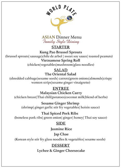 WORLD PLATE_Asian Dinner Menu_Family Sty