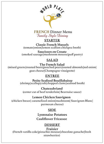 WORLD PLATE_French Dinner Menu_Family St