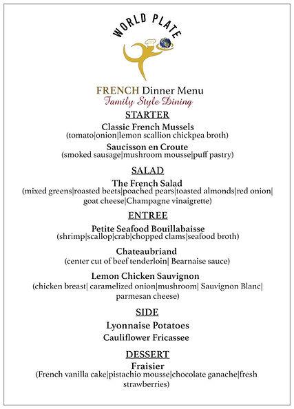 WORLD PLATE_French Dinner Menu_Family St