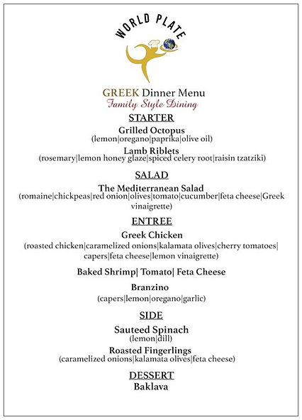 WORLD PLATE_Greek Dinner Menu_Family Sty