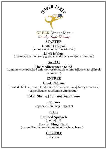 WORLD PLATE_Greek Dinner Menu_Family Sty