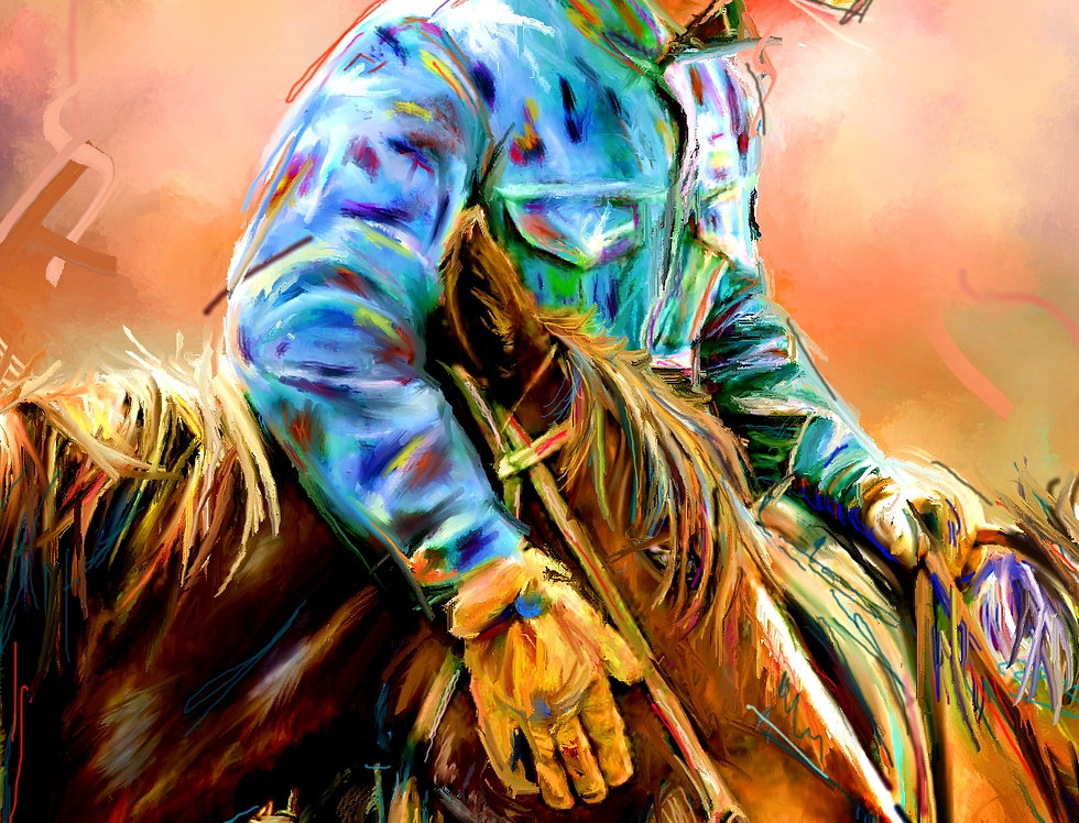 COWBOY LOVE  15 x 23 Gallery Wrapped Canvas