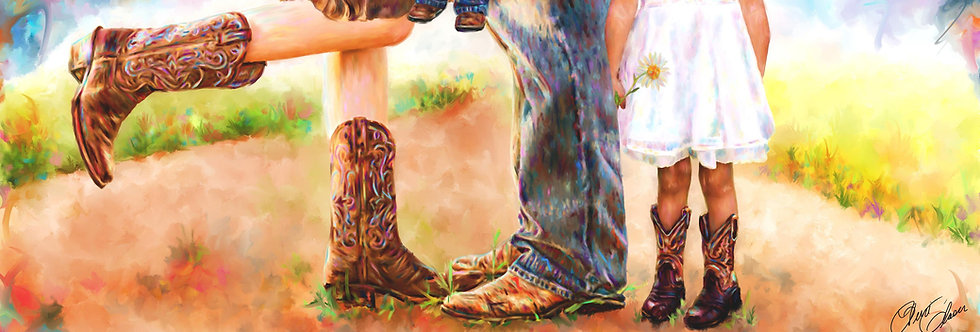 BOOT FAMILY 47 x 17 Gallery Wrapped Canvas