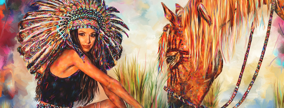 INDIAN PRINCESS  30 X 40 Gallery Wrapped Canvas