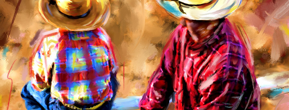 AT THE RODEO  16 X 12 Gallery Wrapped Canvas