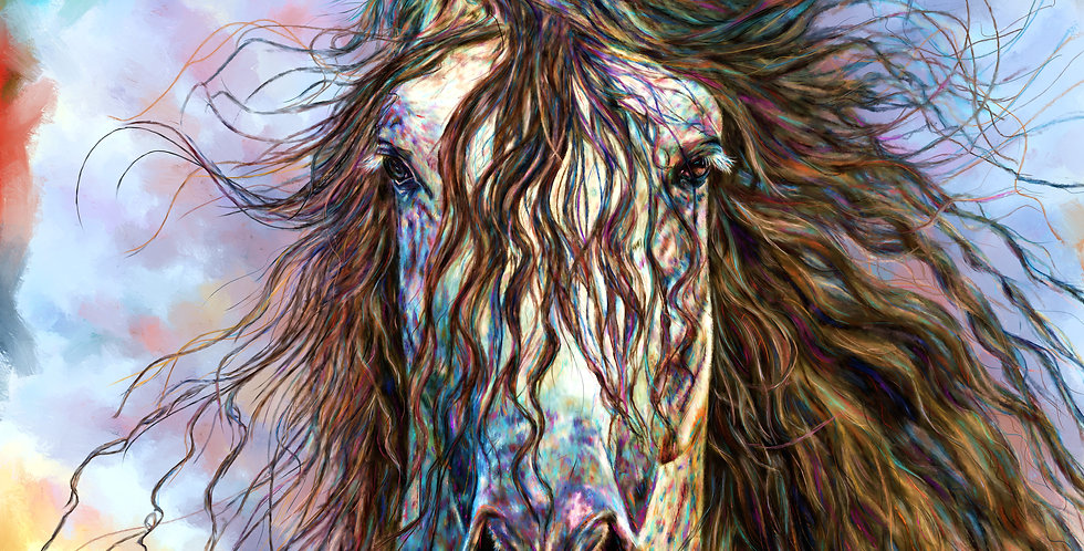 MANE GONE WILD 36 x 36 Gallery Wrapped Canvas