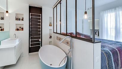 Quand la salle de bains s\'ouvre sur la chambre... | Rénovation ...