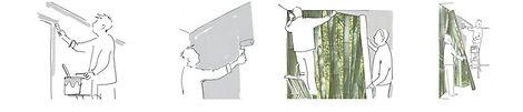 etapes pose papier peint 1