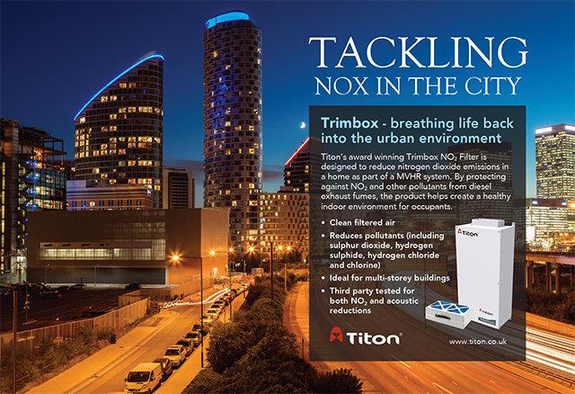 Titon Trimbox NO 2  Filter ®  намалява азотния диоксид (NO 2 )