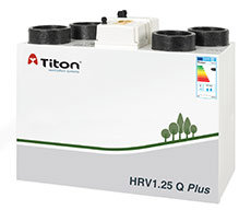Titon, UK HRV1.25 Q Plus /Mechanical Ventilation with Heat Recovery unit (MVHR)