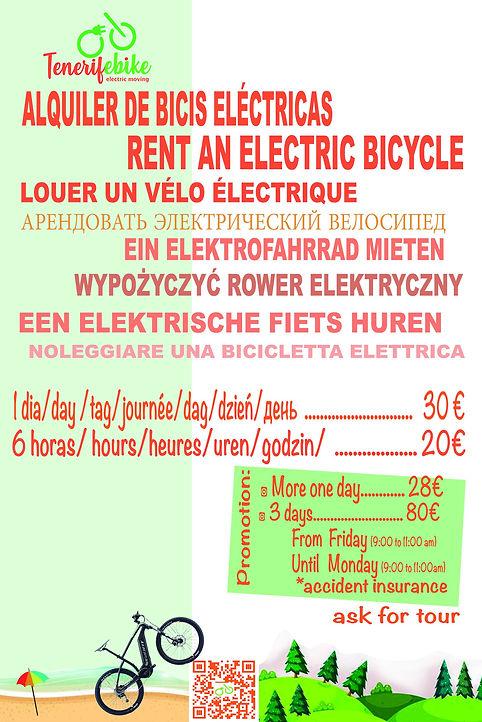 RENT AN ELECTRIC BIKE TENERIFE