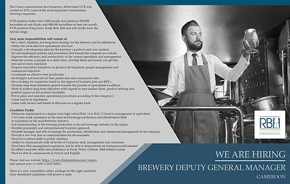 Brewery deputy GM