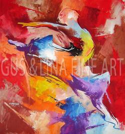 "Female Dancer -  ""Grand Jette"""