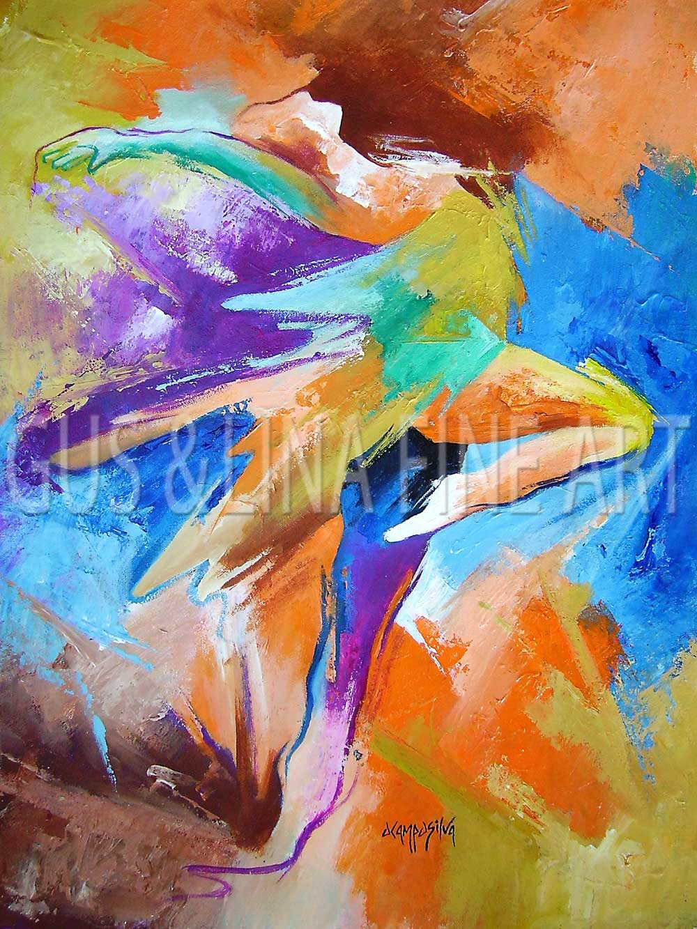 "Female Dancer - ""Passe Jump"""
