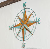 Large Nautical rose hanging on wall
