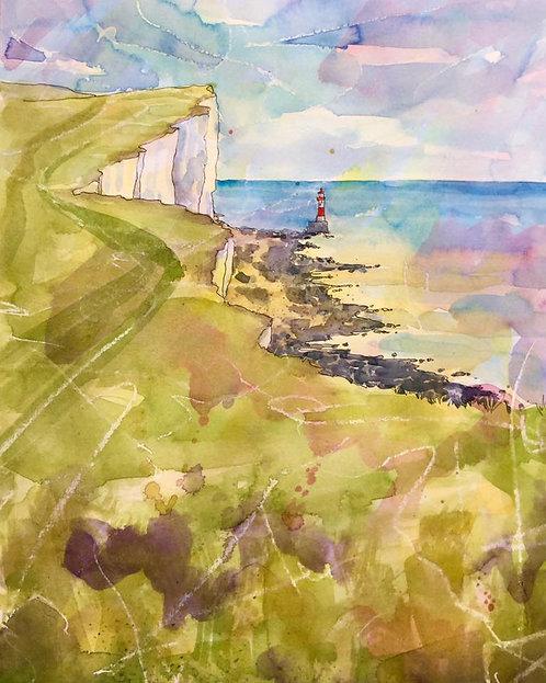 Sea Breeze at Beachy Head by Lyndsey Smith