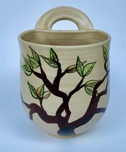 Handled Pot by Yolande Beer