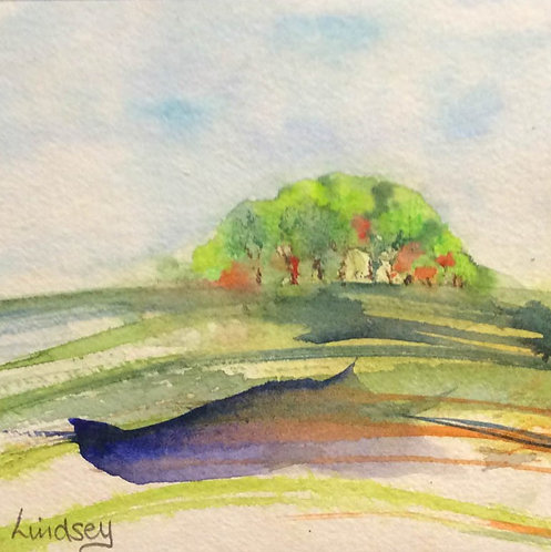 Hillside Copse by Lindsey Pearson