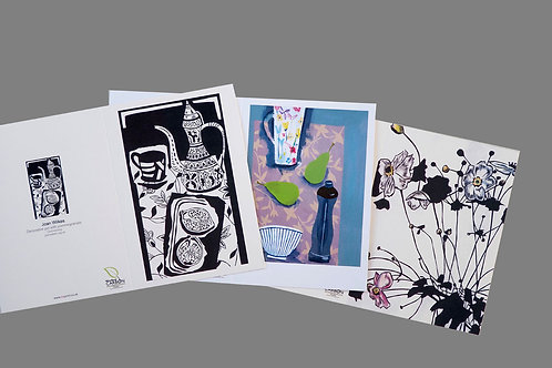 Pack of three assorted greeting cards by Joan Wilkes