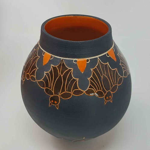 Moon Jar with Bats  by Jane Bridger