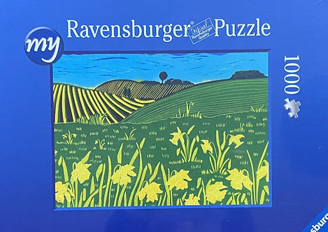Jigsaw Puzzle of Downland Daffodils by Sue Collins