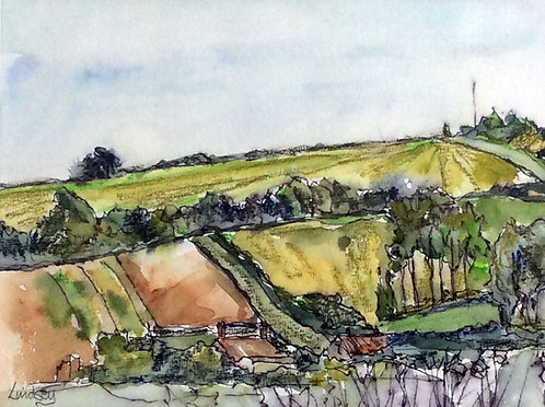 View towards the downs from East Preston by Lindsey Pearson
