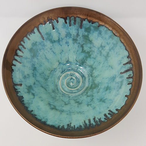 Large Summer Clouds Bowl by Jane Bridger