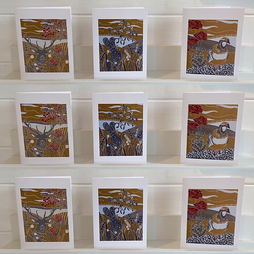 Pack of 12 Christmas cards by Sue Collins