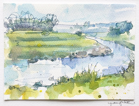 Spring Walk along the Ouse by Lyndsey Smith