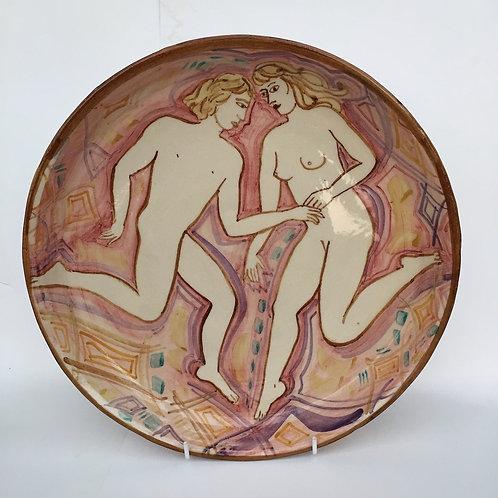 Pink Figure Bowl by Yolande Beer
