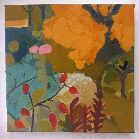 Golden Oak with Rosehips by Georgie Richardson