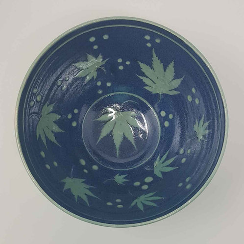 Bowl with Acer Leaves by Jane Bridger