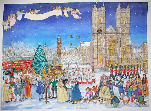 Westminster Abbey Advent by Lyndsey Smith