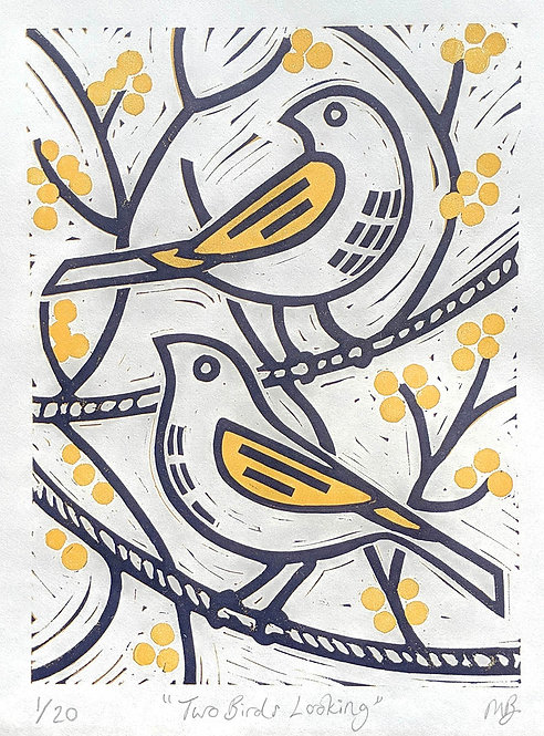 Two Birds Looking by Melissa Birch