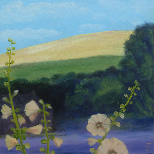 Hills and Hollyhocks by Janice Thurston