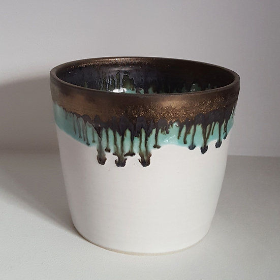 White Gold Planter