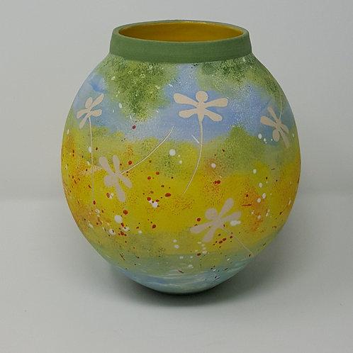 Summer Meadows Moon Jar by Jane Bridger